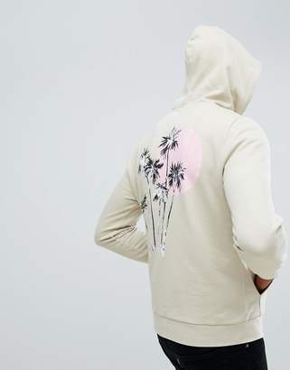 Asos Design DESIGN hoodie with palm tree print