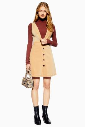 63ac30aad5d Topshop Womens Corduroy Pinafore Dress - Stone