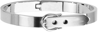 Steel By Design Stainless Steel Fancy Belt Hinged Bracelet