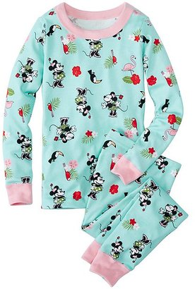 Kids Disney Minnie Mouse Long John Pajamas In Organic Cotton $48 thestylecure.com