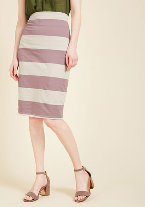 ModCloth The Type for Stripes Pencil Skirt in Lilac in S $19.99 thestylecure.com