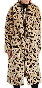 Comme des Garcons Junya Watanabe Women's Leopard-Pattern Faux-Fur Coat - Beige, Tan