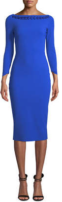 Chiara Boni Adwoa Jeweled-Neck Dress