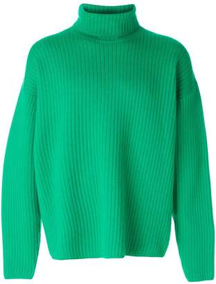 Ami Alexandre Mattiussi oversize turtleneck ribbed sweater