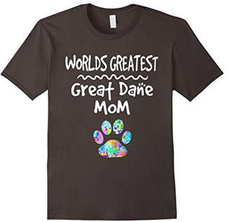 Worlds Greatest Great Dane Mom Shirt Love Dogs Graphic Tee