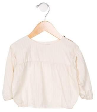 Caramel Baby & Child Girls' Woven Long Sleeve Blouse