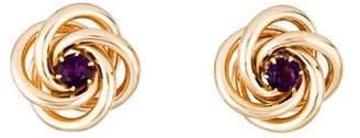 14K Amethyst Love Knot Earrings