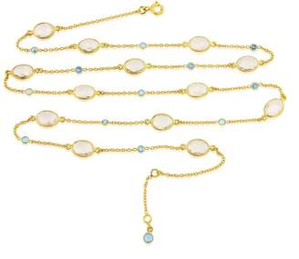 Auree Jewellery - Long Cannes Crystal & 18Ct Gold Vermeil Necklace