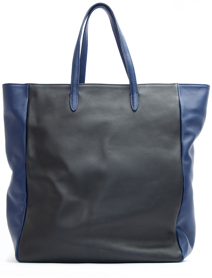 TOUCH - Leather shopper handbag