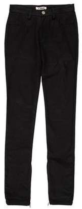 Chloé Zip-Accented Mid-Rise Jeans