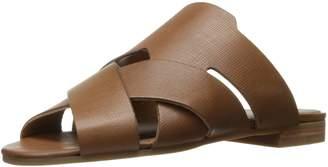 H By Hudson Women's Lonatu Calf Flat Sandal Tan 40 EU/9 M US