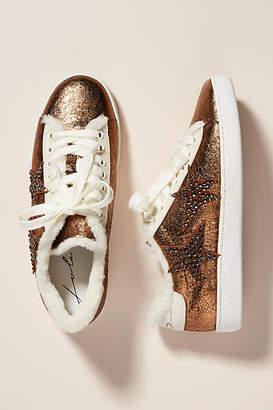 Lola Cruz Metallic Star Sneakers