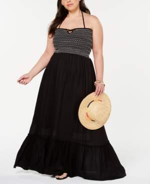 Raviya Plus Size Smocked Cover-Up Dress Women's Swimsuit