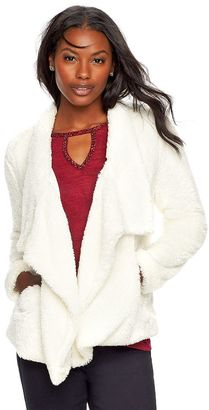 Women's Juicy Couture High-Low Sherpa Jacket $64 thestylecure.com