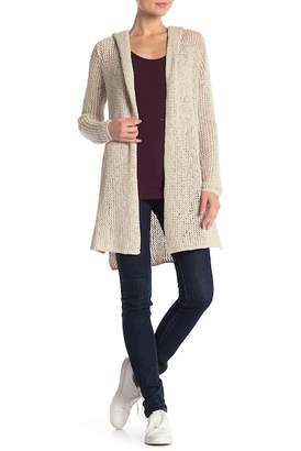 James Perse Open Stitch Hooded Cardigan