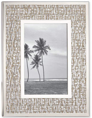 """Kate Spade Picture Perfect Silver 4"""" x 6"""" Frame"""