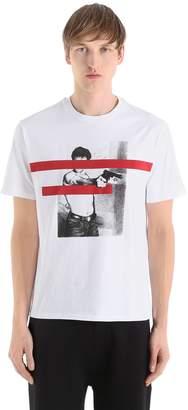 Neil Barrett Censored Printed Cotton Jersey T-Shirt