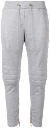 Balmain padded slim-fit track pants