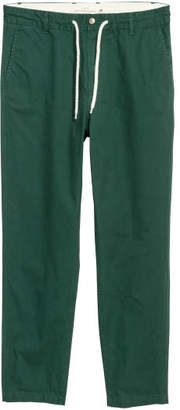 H&M Drawstring Cotton Chinos - Green