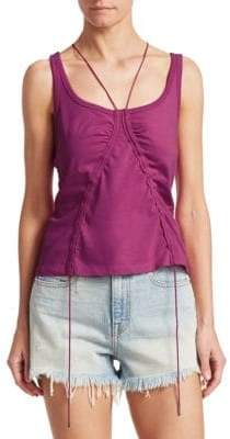 Alexander Wang Ruched Tie Tank Top