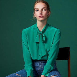 Sandro Silk shirt with bow collar
