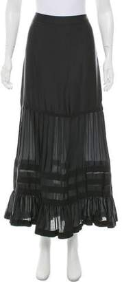 Giorgio Armani Pleat-Accented Midi Skirt