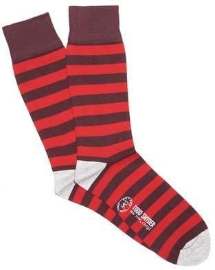 Corgi Red Multi Stripe Socks in Red