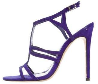 Brian Atwood Suede Caged Sandals