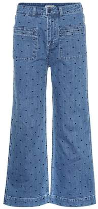 Ulla Johnson Niko polka-dot flared jeans