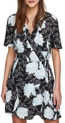 Miss Selfridge Floral Mix Surplice Mini Dress