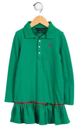 Polo Ralph Lauren Girls' Collared Long Sleeve Dress