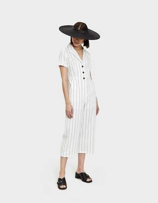 Bia Cordon Blue Farrow Jumpsuit in White Stripe