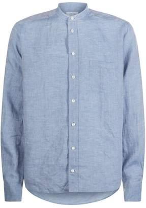 Eton Collarless Linen Shirt