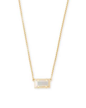 Kendra Scott Pattie Gold Pendant Necklace In Multicolor Drusy