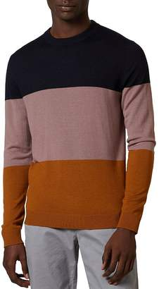 Ted Baker Esclate Color-Block Crewneck Sweater