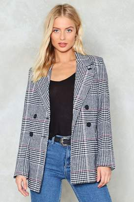 Nasty Gal Back in Business Check Blazer