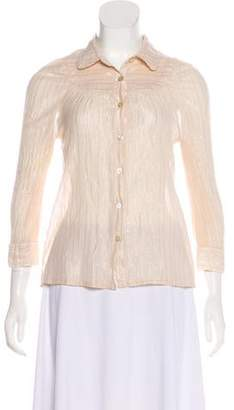 Marc by Marc Jacobs Striped Button-Up Top