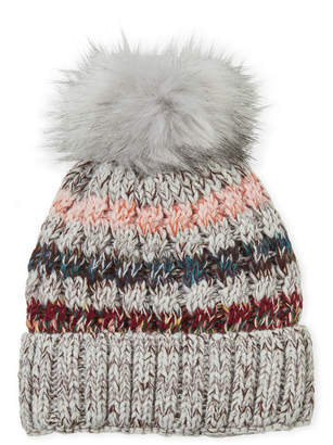 Marcus Collection Adler Striped Knit Lined Beanie