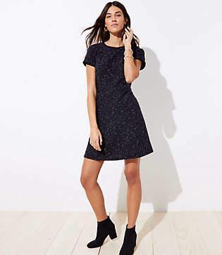 LOFT Tall Tweed Flare Dress