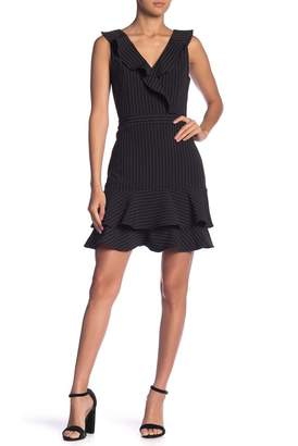 Endless Rose Pinstripe Surplice Dress