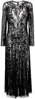 Alexander McQueen structured sheer dress