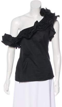 Petersyn One-Shoulder Ruffle Top