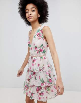Miss Selfridge Tiered Floral A-Line Dress