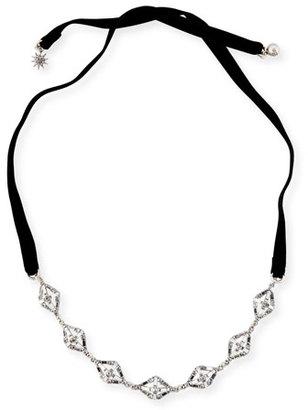 Lulu Frost Proxima Velvet Choker Necklace, Silver/Black $288 thestylecure.com