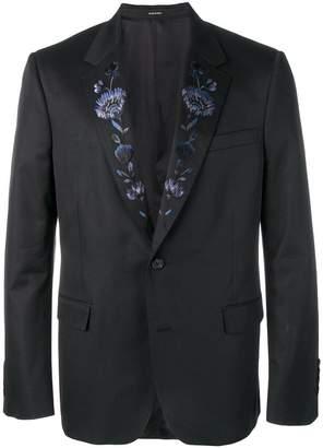 Alexander McQueen floral embroidered blazer