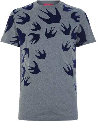 McQ All Over Swallow T-Shirt