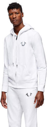 True Religion METALLIC DOUBLE PUFF MENS HOODIE