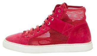 Chanel Suede High-Top Sneakers Red Suede High-Top Sneakers