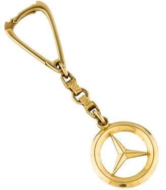 Ring 18K Yellow Gold Mercedes Benz Keychain