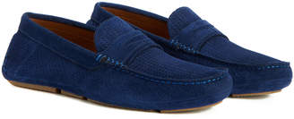 Aquatalia Men's Bruce Embossed Waterproof Suede Driver